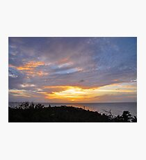 Cloudshow #11 - Sunset from La Olivier Photographic Print