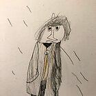 man in the rain by Snusmumrik