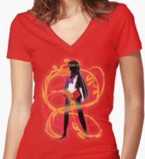 Sailor Mars Women's Fitted V-Neck T-Shirt