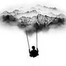 Black and White Mountain Swing by Sto Hitro