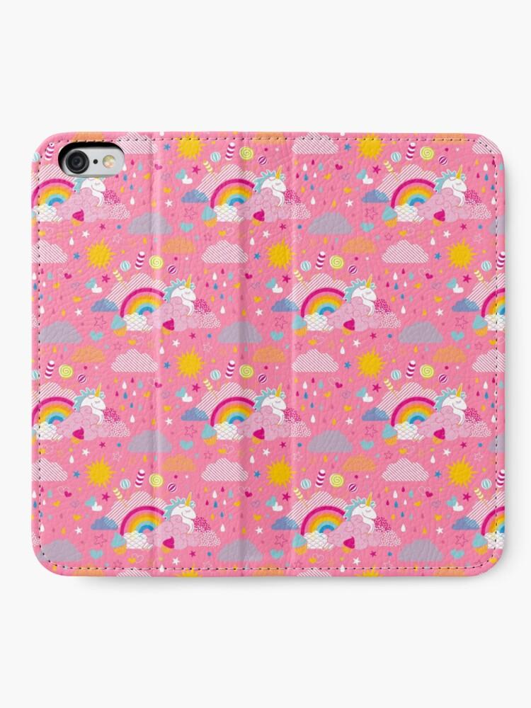 Étui portefeuille iPhone ''be my unicorn': autre vue