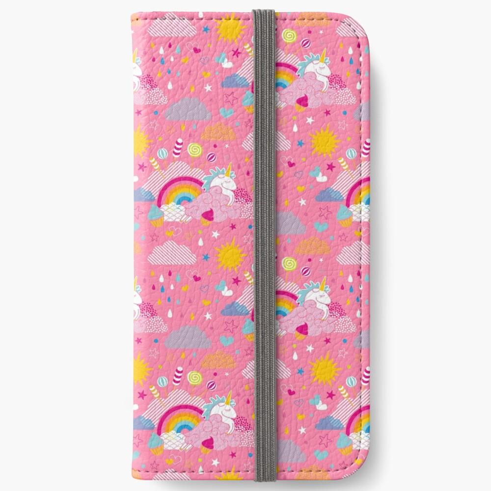 Étui portefeuille iPhone «be my unicorn»