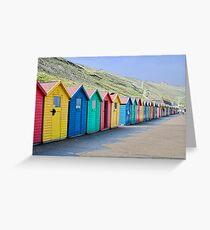 Beach huts at Whitby Greeting Card