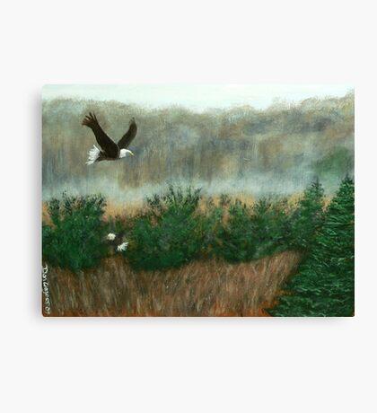 Prarie du sac eagle Canvas Print