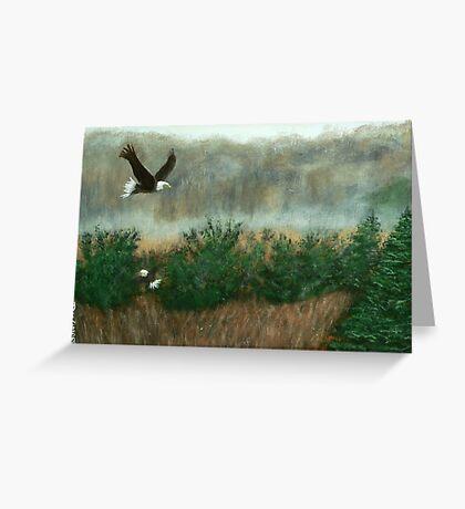Prarie du sac eagle Greeting Card
