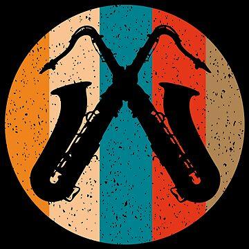 Crossed Saxophones by Vectorbrusher