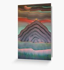 Pink dawn behind Glastonbury Tor Greeting Card
