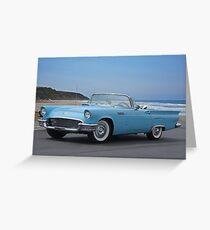 1957 Ford Thunderbird 'Blue Baby' Greeting Card