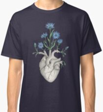 Camiseta clásica Corazón Floral: Anatomía Humana Aciano Día de San Valentín Regalo