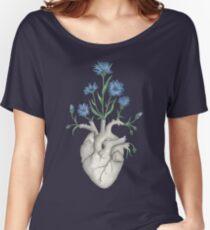 Blumenherz: Menschliches Anatomie-Kornblume-Mutter-Tagesgeschenk Baggyfit T-Shirt