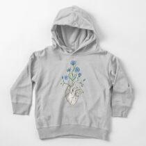 Floral Heart: Human Anatomy Cornflower Flower Halloween Gift Toddler Pullover Hoodie
