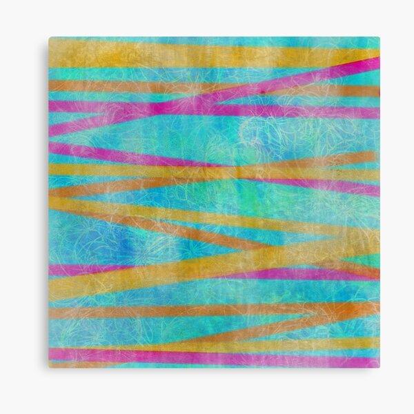 Batik Stripes Orange and Magenta Canvas Print