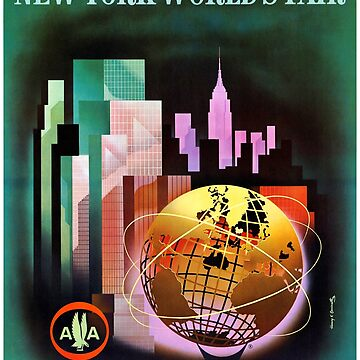 New York, USA Vintage Travel Poster by vintagetreasure