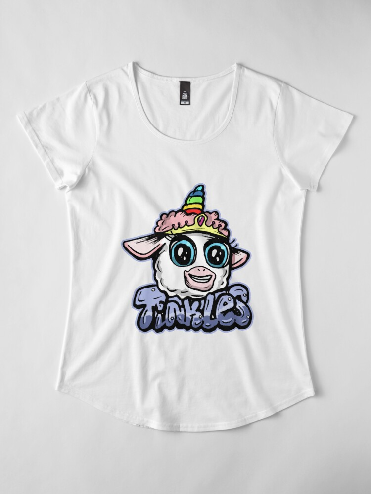 Alternate view of Tinkles the Magical Ballerina Lamb from Rick and Morty™ Premium Scoop T-Shirt