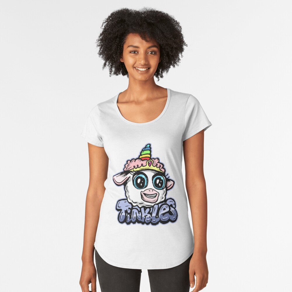 Tinkles the Magical Ballerina Lamb from Rick and Morty™ Premium Scoop T-Shirt