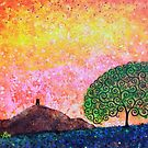 Glastonbury Tor & Tree of Life Spring Sunrise by MarkBetsonArt