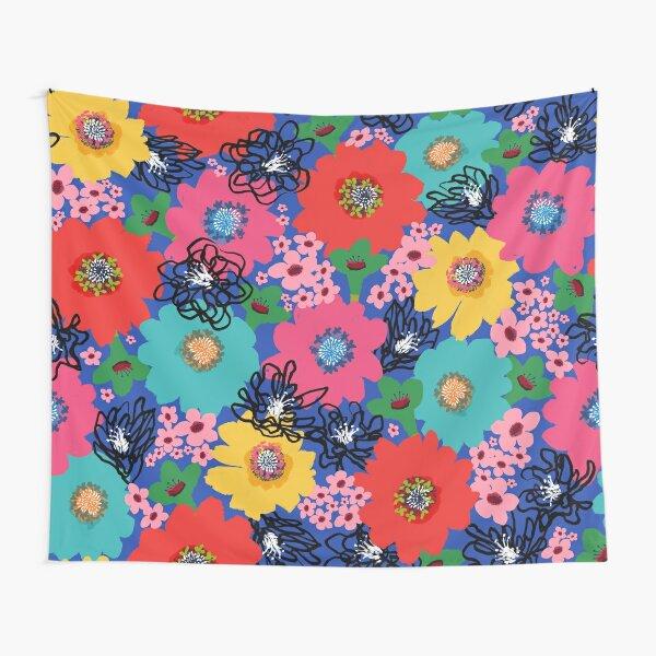 Flower Power – Blue Tapestry