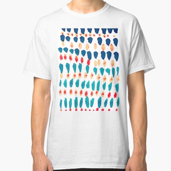 Abstrakte Flecken in Rot und Blau Classic T-Shirt