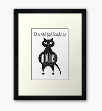 The Well-Read cat - 4 Framed Print