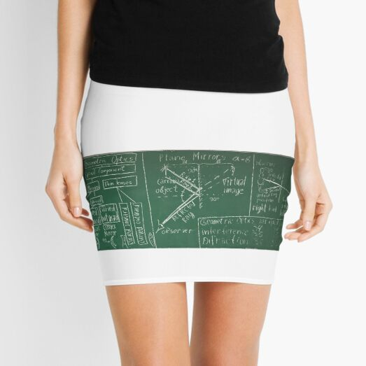#text, #right, #illustration, #art, #education, design, writing, blank, horizontal, green color, typescript, blackboard, retro style, chalk drawing, school Mini Skirt