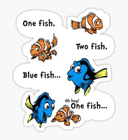 One Fish, Blue Fish Sticker