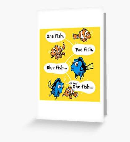 One Fish, Blue Fish Greeting Card