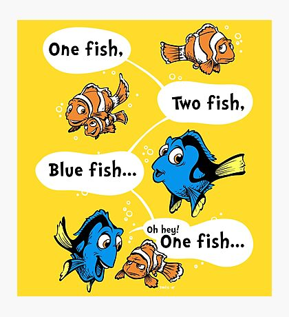 One Fish, Blue Fish Photographic Print