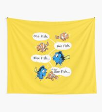 One Fish, Blue Fish Wall Tapestry
