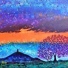 Glastonbury Tor & Tree of Life Winter Sunrise by MarkBetsonArt