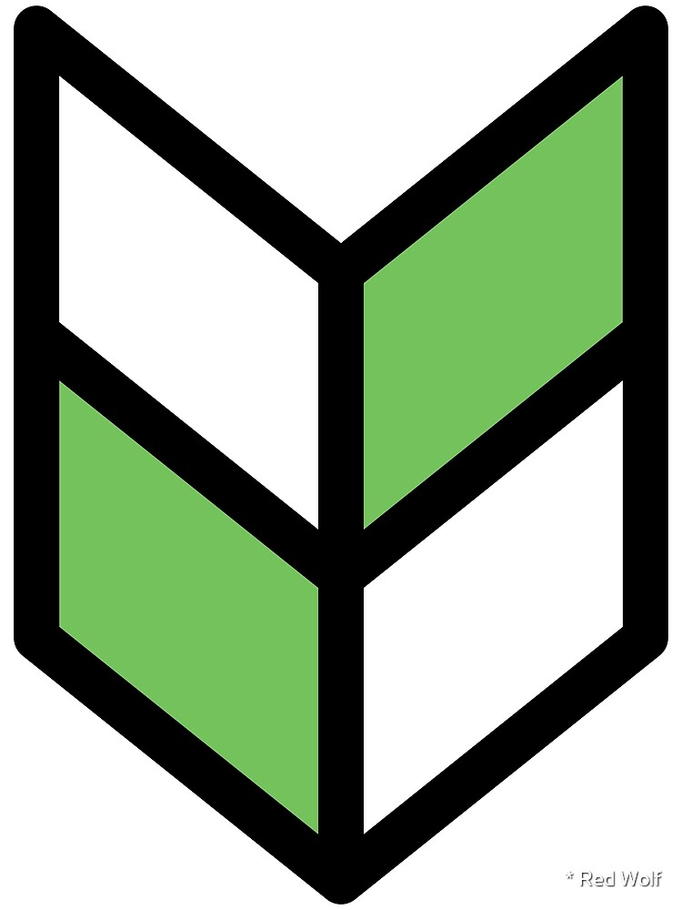 Geometric Pattern: Chevron: White/Green by * Red Wolf