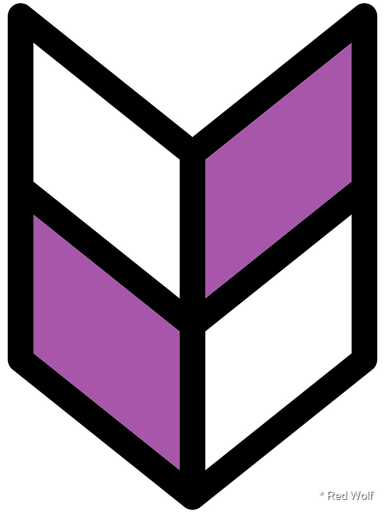Geometric Pattern: Chevron: White/Purple by * Red Wolf