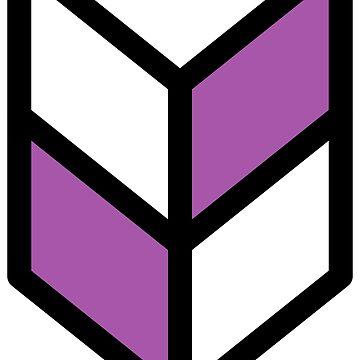 Geometric Pattern: Chevron: White/Purple by redwolfoz