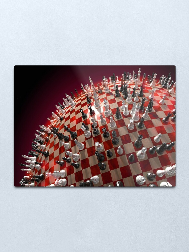 Alternate view of #competition, #chess, #war, #fun, #army, knight, winning, success, queen, chess piece, struggle, leisure games, strategy, agility Metal Print