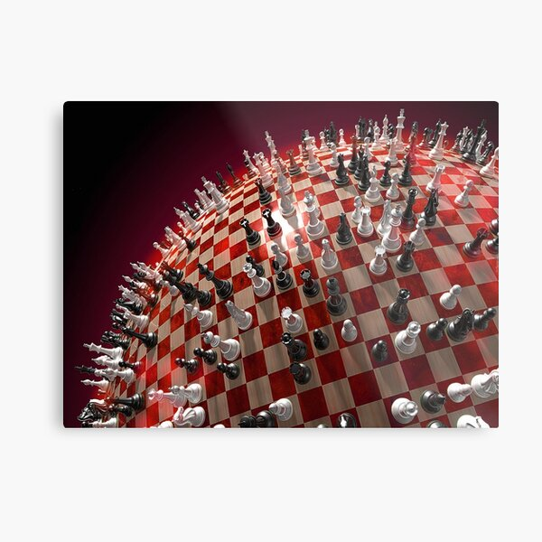 #competition, #chess, #war, #fun, #army, knight, winning, success, queen, chess piece, struggle, leisure games, strategy, agility Metal Print