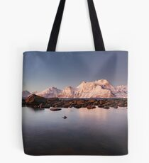 Lyngenalps by Moonlight Tote Bag