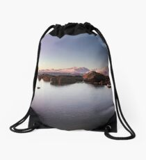 Lyngenalps by Moonlight Drawstring Bag