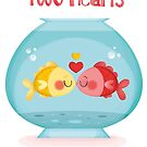 two hearts and a bowl by Angela Sbandelli
