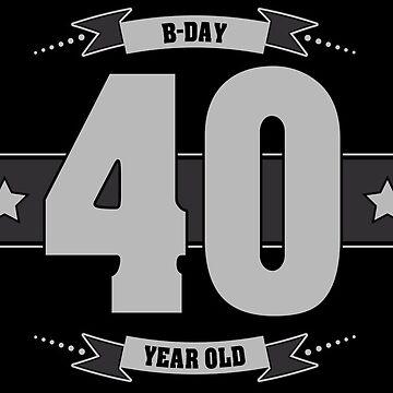B-day 40 (Light&Darkgrey) by ipiapacs