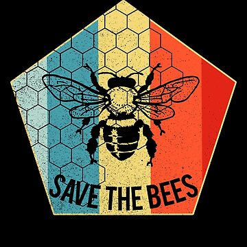 Save the Bees Shirt Retro Beekeeper Save the bees by LuckyU-Design