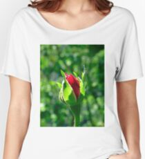 First Day Of My Small Red Rose Women's Relaxed Fit T-Shirt