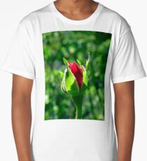 First Day Of My Small Red Rose Long T-Shirt