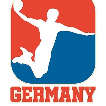 Retro Handball Germany Shirt for handball and handball fans by LuckyU-Design