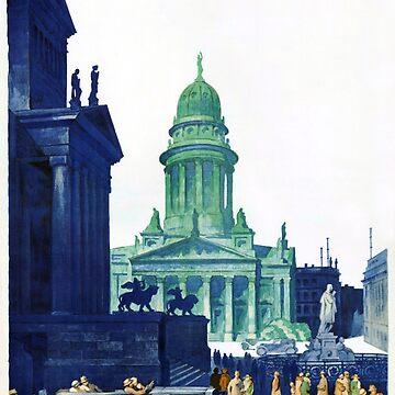 Berlin Germany Vintage Travel Poster Restored by vintagetreasure