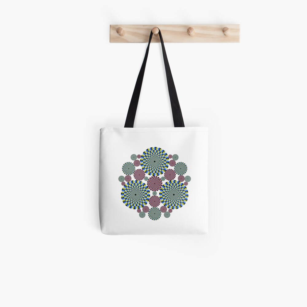 #abstract, #decoration, #pattern, #flower, #illustration, art, circular, design, lace, ornate, color image, circle, geometric shape, textured Tote Bag