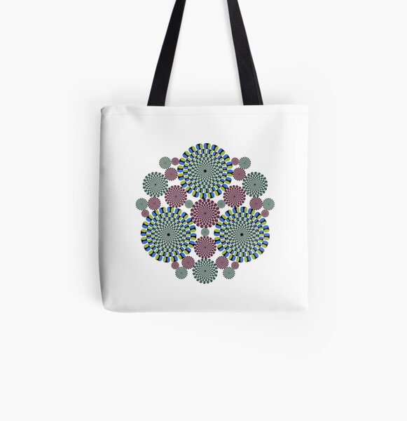 #abstract, #decoration, #pattern, #flower, #illustration, art, circular, design, lace, ornate, color image, circle, geometric shape, textured All Over Print Tote Bag