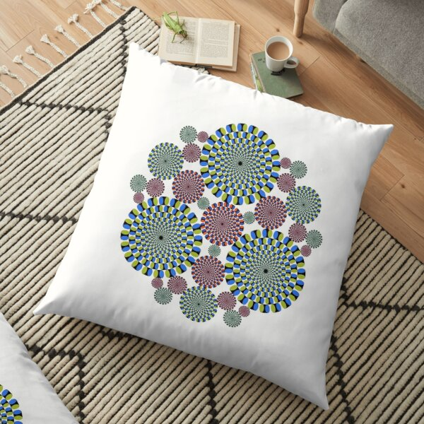 #abstract, #decoration, #pattern, #flower, #illustration, art, circular, design, lace, ornate, color image, circle, geometric shape, textured Floor Pillow