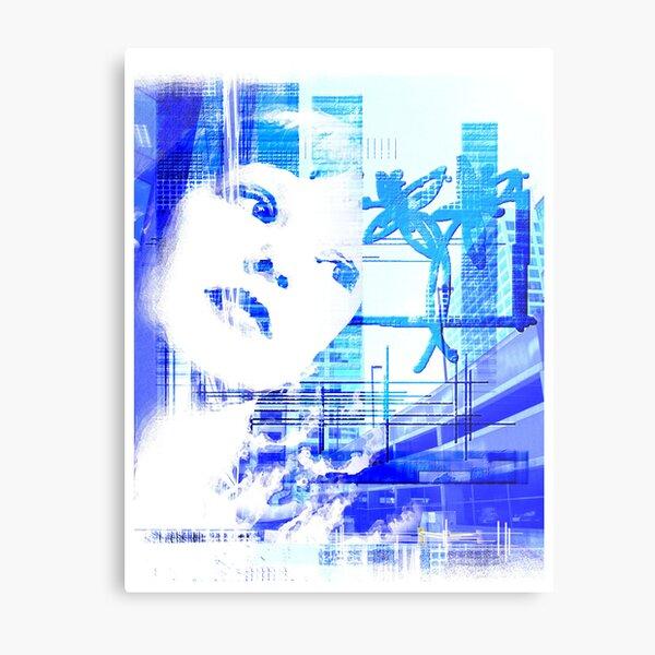 Blue city life Metal Print
