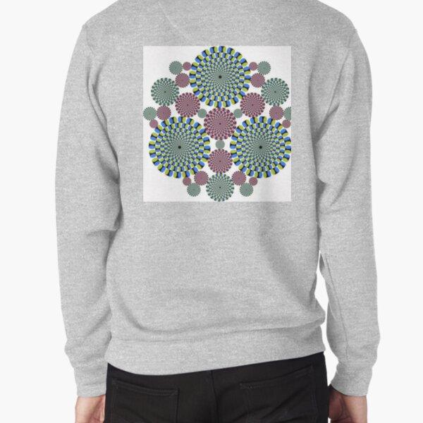 #Optical #Illusion #abstract, decoration, pattern, flower, illustration, #art, vector, #OpticalIllusion Pullover Sweatshirt