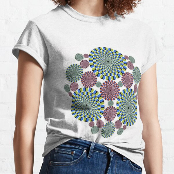 #Optical #Illusion #abstract, decoration, pattern, flower, illustration, #art, vector, #OpticalIllusion Classic T-Shirt
