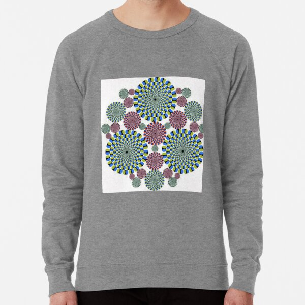 #Optical #Illusion #abstract, decoration, pattern, flower, illustration, #art, vector, #OpticalIllusion Lightweight Sweatshirt
